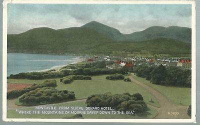 Old Postcard  Valentine's  Newcastle From Slieve Donald Hotel   Posted  1956