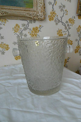 French Champagne bucket -  heavy glass