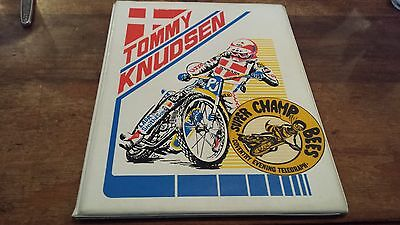 Tommy Knudsen--Coventry Bees---1980's-----Speedway---Programme Board