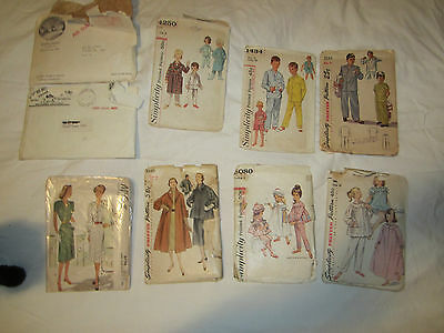 LOT OF 9 VTG SEWING PATTERNS 1940'S-60'S mostly, mix men's women's children