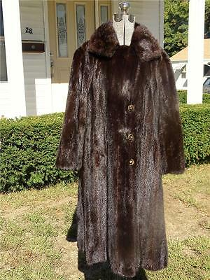 Old Vintage Full Length Dark Brown Sable Mink Coat Vola`s Exclusive Knoxville TN