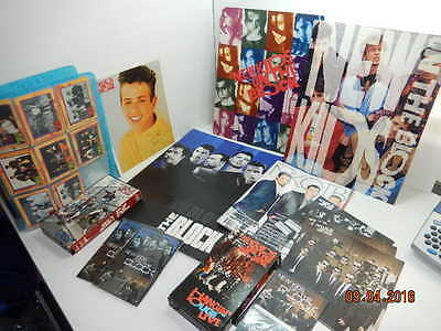 NEW KIDS ON THE BLOCK memorabilia lot photo VHS trading cards concert books