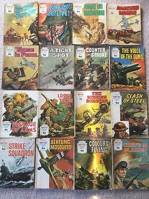 16 Early 70's Battle Picture Library Comics