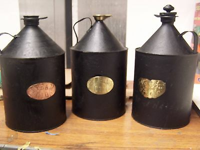 Traction/ Railway  Engine Steam Roller  Oil Cans