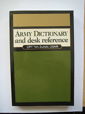 Army Dictionary and desk reference Bundeswehr US Army