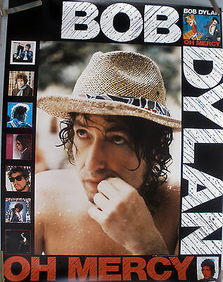 Rare Bob Dylan Oh Mercy 1989 Vintage Music Record Store Album Promo Poster