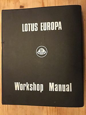 Lotus Europa S1 S2 Twin Cam Renault Workshop Service Notes Manual