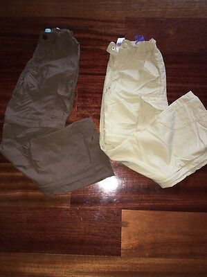 Two Pairs Of Rei Travel Pants With Zip Off Bottoms Size 6/7