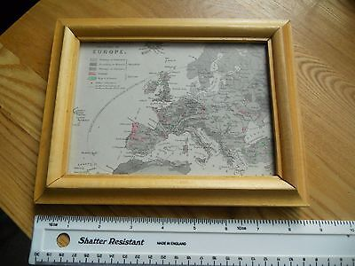 Victorian Map of Europe. In Frame 1900