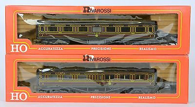 RIVAROSSI HO 2x LMS COACHES 2392 & 2393 UNOPENED DETAILING VERY Nr MINT BOXED