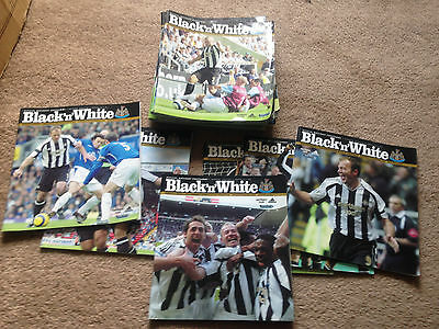 18x Newcastle United Matchday Programmes from the 2005/2006 Season