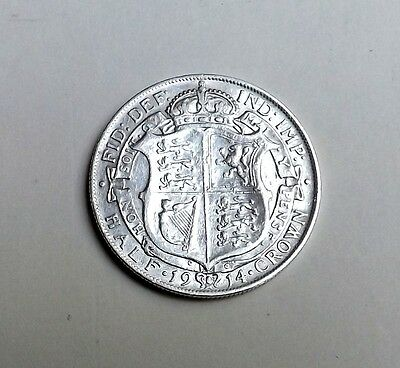 George V 1914 Halfcrown Very Nice Condition Very Nice Rare Coin