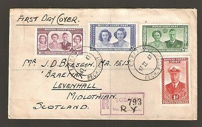 1947 Bechuanaland King George VI Registered FDC - Royal Visit