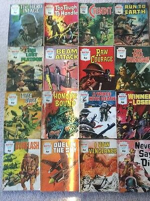 16 Early 70's Battle Picture Library Comics- 6p Issues