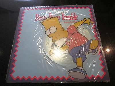 "The Simpsons ""deep Deep Trouble"" Rare 1991 Uk Shaped Pic Disc"