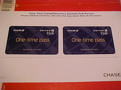 2 (TWO) United Airlines Club LOUNGE PASSES -- EXP: 01/31/2018 !! *FREE SHIPPING*