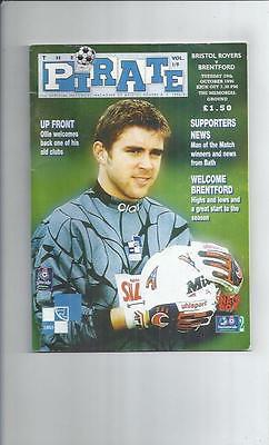 Bristol Rovers v Brentford Football Programme 1996/97