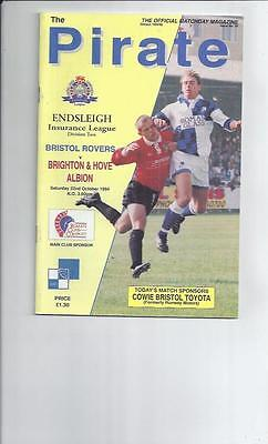 Bristol Rovers v Brighton Football Programme 1994/95