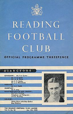 Reading v Manchester United (FA Cup) 1954/5