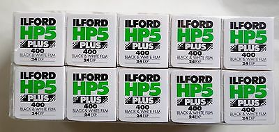 Ilford HP5 Plus 35mm 24 Exp B+W Film Pack of 10