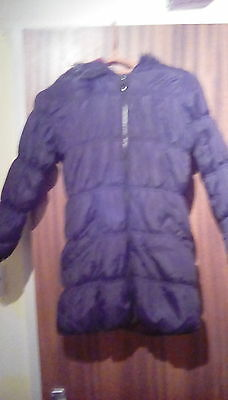 girls black padded hooded coat size 8-9 years from george