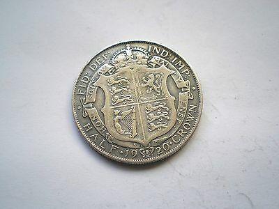 EARLY -GEORGE V- SILVER 1/2 CROWN COIN FROM THE UK DATED-1920 nice