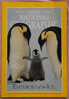 National Geographic Magazine March 1996 – Emperors Of The Ice (Penguins)