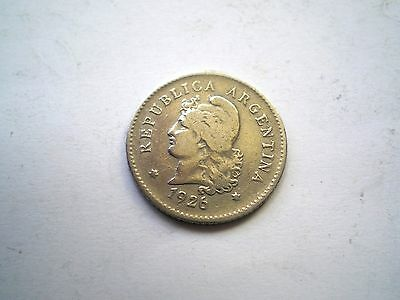Early -10 Centavos Coin From Argentina-Dated 1926 Nice