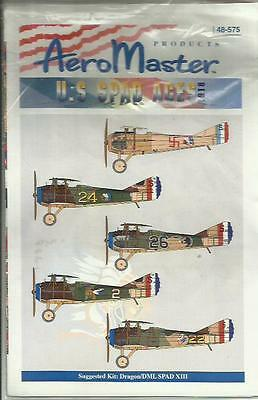 Aeromaster Decals 48-575 Spad VII Spad XIII US Aces decals in 1:48 Scale