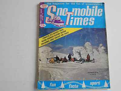 Sno-Mobile Times snowmobile magazine 1971 Buyers Guide Dauphin Wild One Sno-Jet