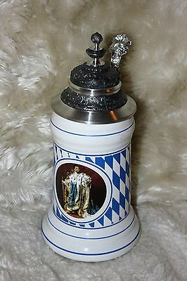 Large German Beer Stein Detailed top Made in Germany