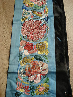Antique / Vintage? Chinese Silk Hand Embroidered Panel
