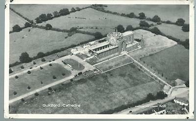 Old Postcard  Photo Precision   Aerial View   Guildford Cathedral