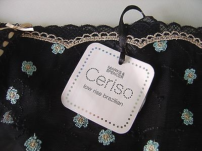 MARKS AND SPENCER CERISO LACE LOW RISE brazilian  - 18  - BNWT stocking gift