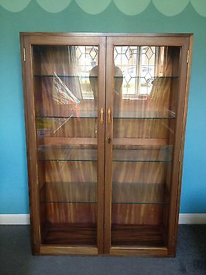 Ladderax Book Case Glass Fronted circa 1960's VGC Cabinet Shelves
