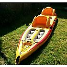 Coleman Deluxe Open Top Kayak Inflatable 2 person boat with Set of Oars