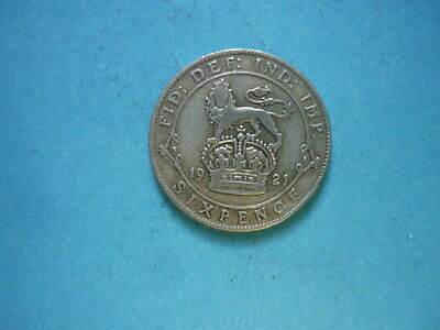 George V Silver Sixpence 1921 (struck in 0.500 Fine Silver)