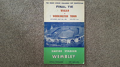 Wigan v Workington Town, Challenge Cup Final at Wembley,  1958