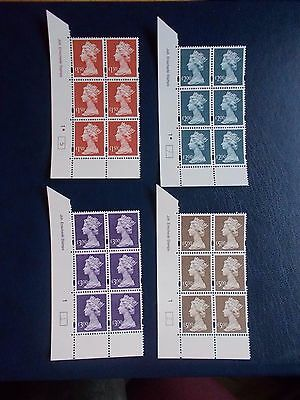 1999 Enschede Recess High Values set of 4 in Cylinder Blocks of 6 all no dot U/M