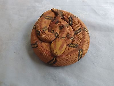 Beautiful Concrete Lifelike Coiled Canebreak Rattlesnake Snake Very Real Detail
