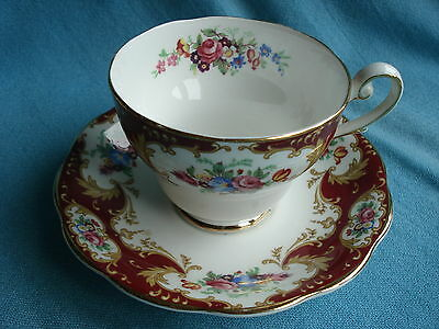 Pretty Royal Standard Bone China Tea Cup and Saucer - Lady Fayre