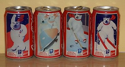 Coca Cola  Cans Set From Italy - Lillehammer 92