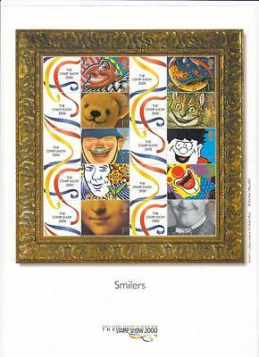 Gb # Ls1 The Stamp Show London 2000 Smilers Sheet Mnh Po Fresh