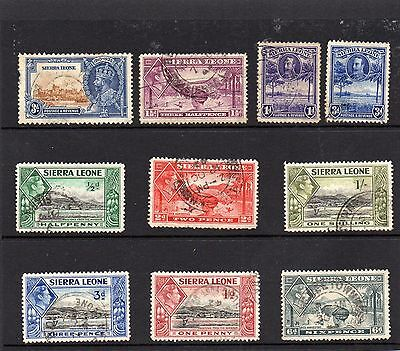 Collection of Fu stamps of Sierra Leone.