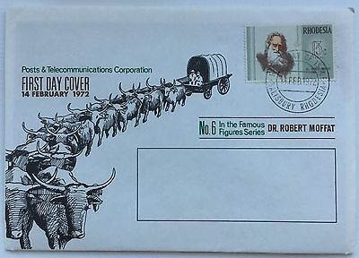Rhodesia - First Day Cover - 14 February 1972 - Dr.Robert Moffat
