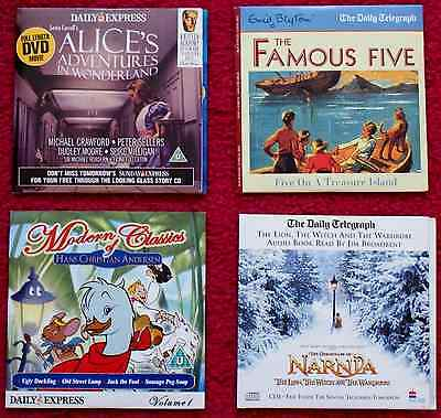 2 Children'S Dvds/audio Books From The Daily Express And Daily Telegraph