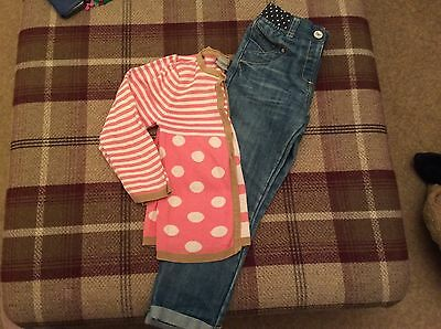 Next Girls Jeans And Cardigan Age 4-6