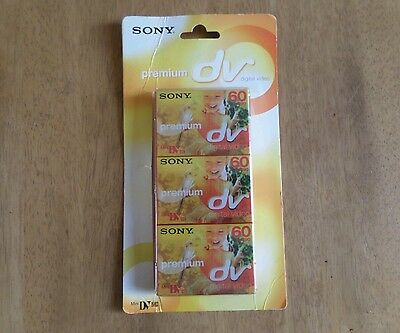 Sony**premium Dv Digital Video Cassettes X 3**bnib**no Reserve**
