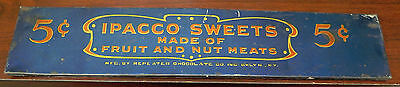 Vintage IPACCO SWEETS Advertising Tin Sign or Cover
