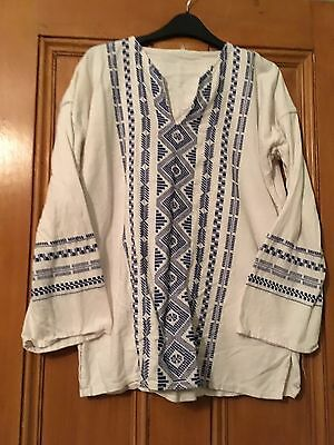 Vintage Embroidered Peasant Top Tunic